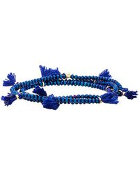 Shashi - Laila Stretch Bracelet In Blue. - Lyst