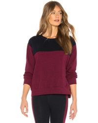 Sundry - Colorblock Crew Neck Sweater - Lyst