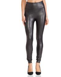 Spanx Леггинсы Faux Leather В Цвете Очень Черный