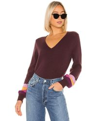 Velvet By Graham & Spencer Caren Cashmere Jumper - Purple