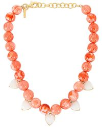 Lele Sadoughi - Heart Charm Country Club ネックレス - Lyst
