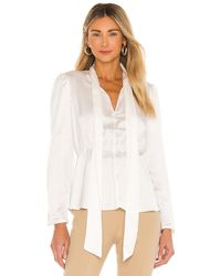 1.STATE Puff Sleeve Blouse In White. Size L.