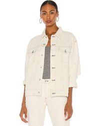 Rag & Bone Max Trucker Jacket. Size S,M,L. - Weiß
