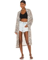 Free People Wild Nights Duster - Braun