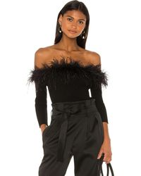 MILLY Blusa feather - Negro