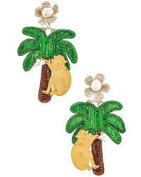 Mercedes Salazar Palm Clip On Earring - Green