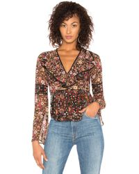 BCBGeneration - Bell Sleeve Top In Brown - Lyst