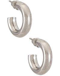 Natalie B. Jewelry Rumi フープイヤリング - メタリック