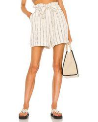 Bardot Stripe ショートパンツ - ホワイト