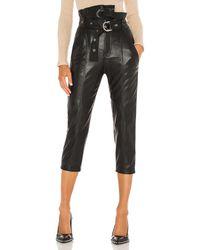 Marissa Webb Anniston Leather Pant - Black