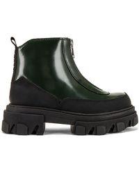 Ganni Ботильоны В Цвете Темно-зеленый - Черный
