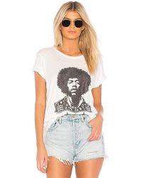 Lauren Moshi - Jimi Hendrix Wolf Classic Tee In White - Lyst