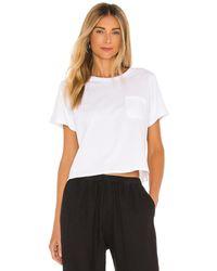 Richer Poorer Cropped T-Shirt mit weitem Schnitt - Weiß