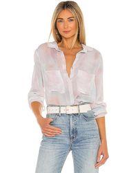 Bella Dahl Full Button Down Hipster Shirt - Multicolour