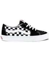 Vans - Кроссовки Sk8 В Цвете Black & Checkerboard - Lyst