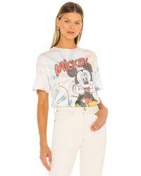 Junk Food Classic Mickey Sitting Tシャツ - ホワイト