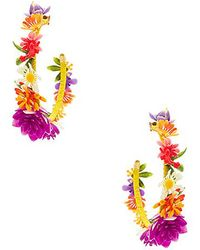 Mercedes Salazar - Jardin De Flores Earrings In Yellow. - Lyst