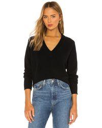 Equipment Madalene Vネックセーター - ブラック