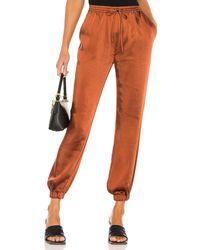 LPA Elastic Waist Pant with Leg Cuff - Orange