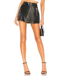 Urban Outfitters - Mid Rise Moto Skirt With Belt In Black - Lyst