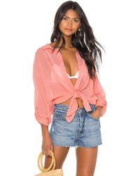 Seafolly Classic Beach Shirt - Pink