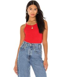 Sundry Strappy Tank Top - Red