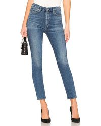 Citizens of Humanity Olivia High Rise Slim - Blue