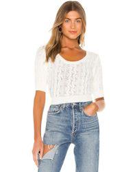 superdown Caroline Knit Top - White