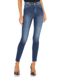 7 For All Mankind The High Waist Skinny - Blue