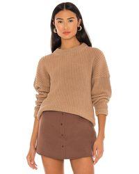Callahan Boyfriend Sweater - Brown