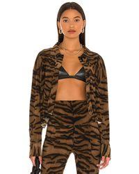 Norma Kamali Рубашка Nk В Цвете Brown Tiger - Коричневый