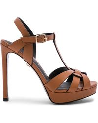 Lola Cruz Escarpins Ankle Strap - Marron