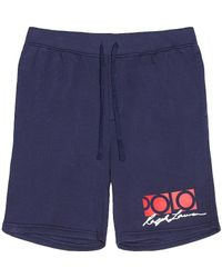 Polo Ralph Lauren Флисовые Шорты В Цвете Newport Navy - Синий