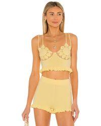 MAJORELLE Aiden Knit Top - Yellow