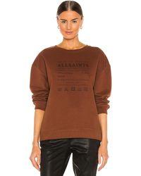 AllSaints Veda Iona スウェットシャツ - ブラウン