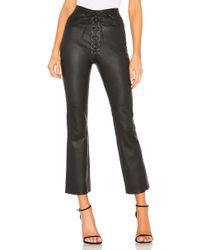 LPA Fei Leather Moto Trousers - Black
