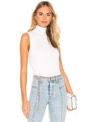 525 America Mock Neck Tank - White