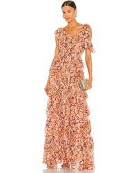 Ulla Johnson Вечернее Платье Florence В Цвете Коралл - Розовый