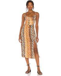 L*Space L* Платье Portola В Цвете Pretty In Python - Orange, Brown. Размер L (также В M, S, Xs). - Коричневый