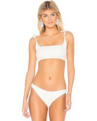 Somedays Lovin - Ripples Bikini Top In White - Lyst
