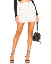 superdown Amanda Smocked Skirt - White