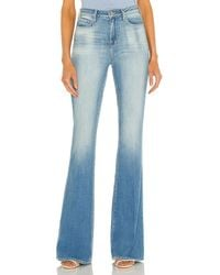 L'Agence Bell High Rise Flare - Blue
