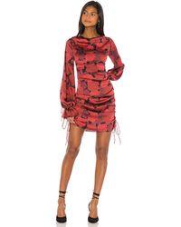L'academie The Gallarde Mini Dress - Red