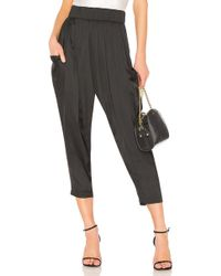 Halston - Flowy Ruched Pant In Black - Lyst