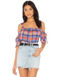 Sanctuary - Dawn Bow Top In Blue - Lyst