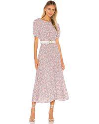 Faithfull The Brand Beline Midi Dress - Pink