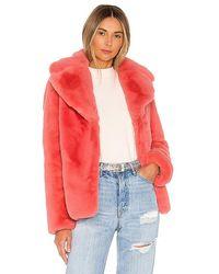 Kendall + Kylie Faux Fur Coat - Pink