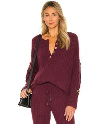 Free People Around The Clock Pullover - Red