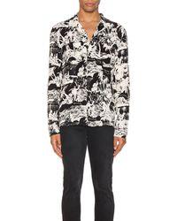 AllSaints Awa ロングスリーブボタンアップシャツ - ブラック