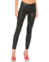 PAIGE Hoxton Ankle Jeans Black Fog Luxe Coating